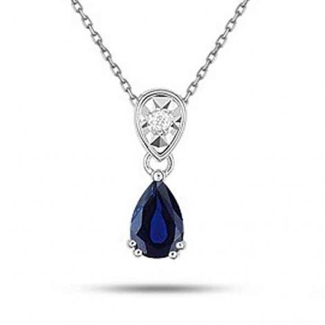 Collier Saphir et diamants ct - Passion-MI502GSB4