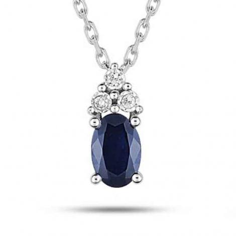 Collier Saphir et diamants ct - Stefania-MZ517GSB4