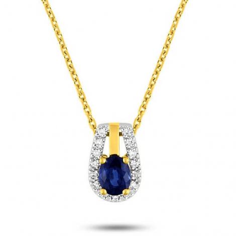 Collier Saphir et diamants ct - Tatiana-MT589XSB2