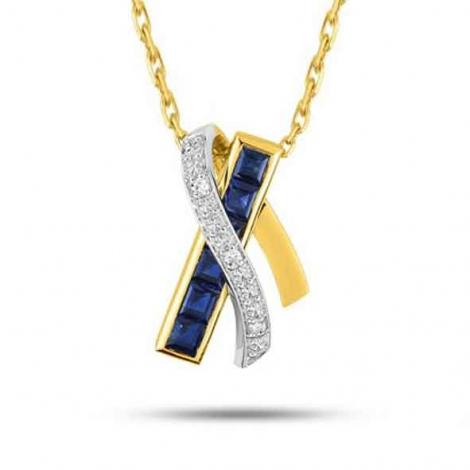 Collier Saphir et diamants ct - Yuri-MY509BSB4