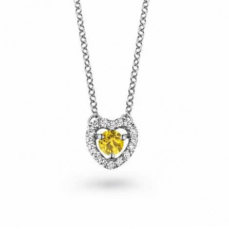 Collier Saphir jaune diamant 0.10 ct One More Salina 048356JA