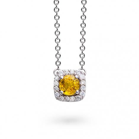 Collier Saphir jaune diamant 0.11 ct One More Salina 047524JA