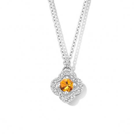Collier Saphir orange diamant 0.11 ct One More Salina 062361KA