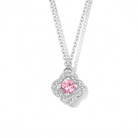 Collier Saphir rose diamant 0.11 ct One More Salina 062361XA