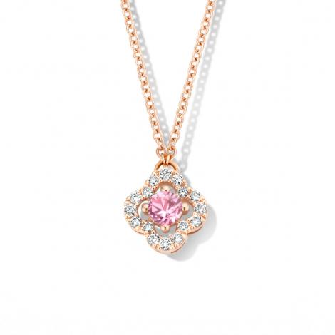 Collier Saphir rose diamant 0.11 ct One More Salina 062387XA