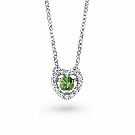 Collier Saphir vert diamant 0.10 ct One More Salina 048356EA