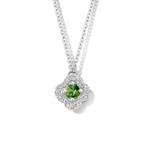 Collier Saphir vert diamant 0.11 ct One More Salina 062361EA