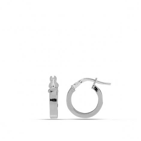 Créole Or Blanc 1.05 g - 10 mm - Luna - 9K2660.1G