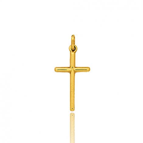 Croix baton arrondie Or Jaune Inna