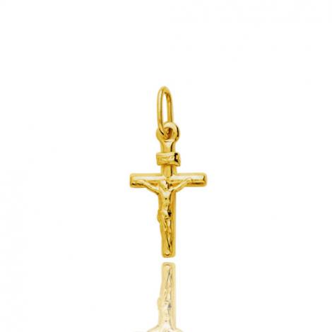 Croix Christ crucifié  Or Jaune Coralie