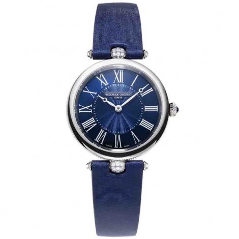 Frederique Constant Classics Art déco Quartz Cadran Bleu Bracelet Tissu - FC-200MPN2AR2D6