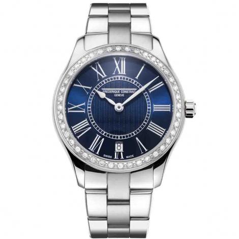 Frédérique Constant Classics Ladies Quartz Quartz Cadran Bleu Bracelet Acier Poli Inoxydable - FC-220MN3BD6B