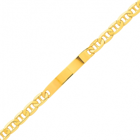 Gourmette pour homme or jaune maille marine 6mm - 14.85g