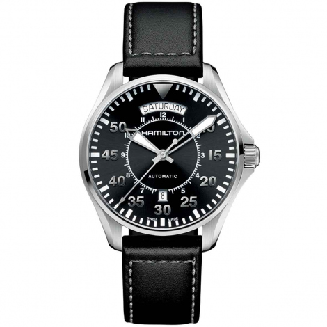 Hamilton Khaki Aviation Pilot Day Date Auto 42 mm- H64615735