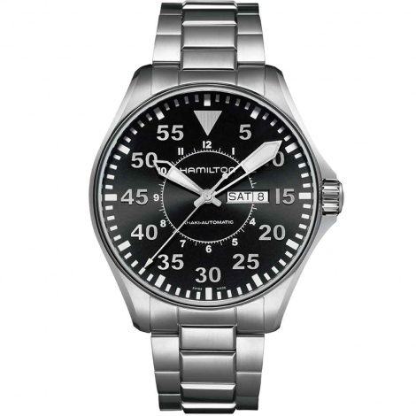 Hamilton Khaki Aviation Pilot Day Date Auto 46 mm- H64715135