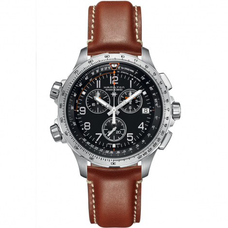 Hamilton Khaki Aviation X-Wind GMT Chrono Quartz  46 mm- H77912535