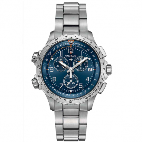 Hamilton Khaki Aviation X-Wind GMT Chrono Quartz  46 mm- H77922141