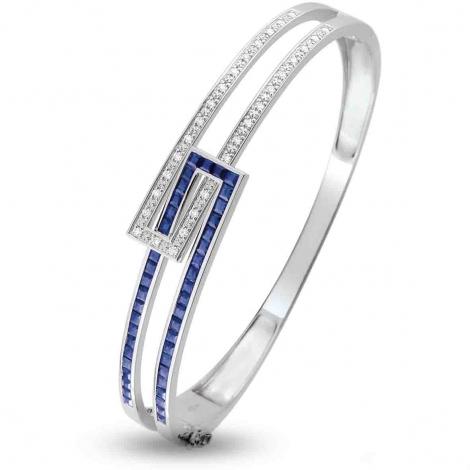 jonc en Or Blanc et diamant 0.24 ct Hideki -S18.72101