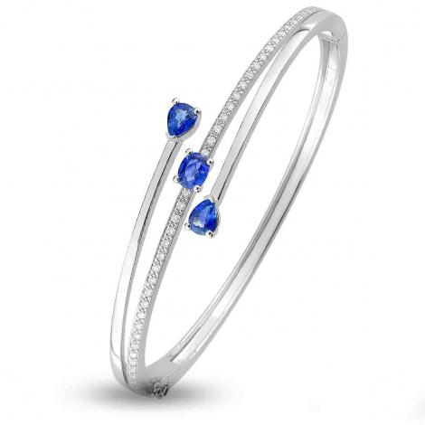 jonc en Or Blanc et diamant 0.34 ct Princesse -6.6001.S1