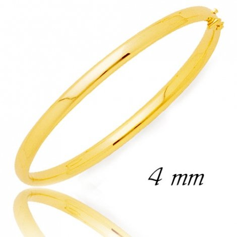 Jonc en Or Jaune 12.7g large de 4 mm Katherine - 372C4PM