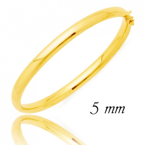 Jonc en Or Jaune 14.45g large de 5 mm Lizzy - 372C5PM