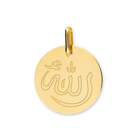 Médaille Allah Or Blanc Lina - XM1055