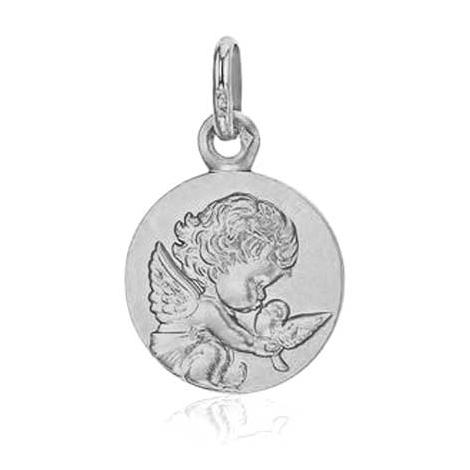Médaille Ange à la Colombe Augis Or Blanc 14 mm Shanna 5600009901