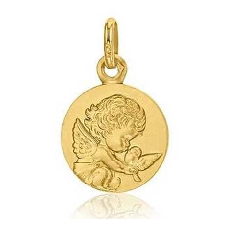 Médaille Ange à la Colombe Augis Or Jaune 14 mm Cassandra 3630000000
