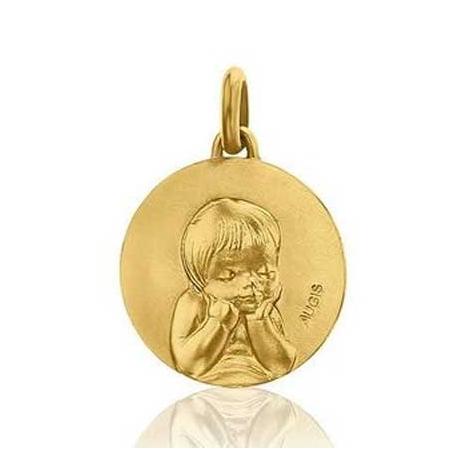 Médaille Ange Augis Patine main Or Jaune 16 mm Itaca 3600056900