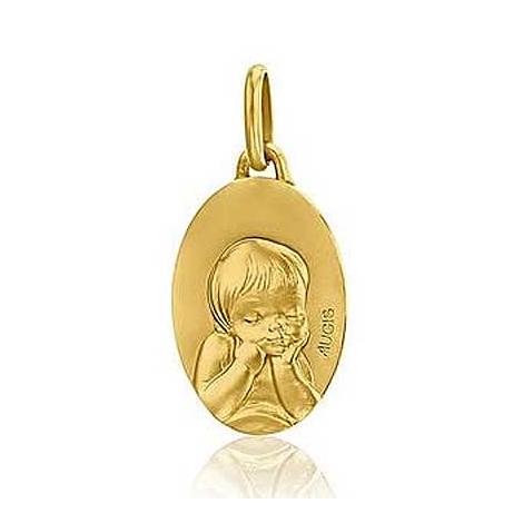 Médaille Ange Augis Patine main Or Jaune  Johanna 3600057200