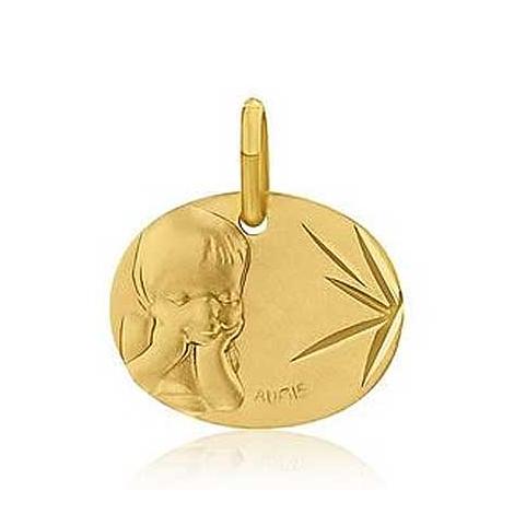 Médaille Ange Chérubin Augis Or Jaune  Sandrine 3600033100
