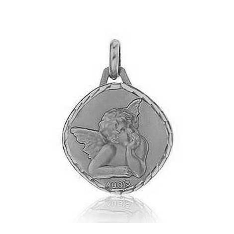 Médaille Ange de Raphaël Augis Or Blanc 15 mm Milles éclats 5600002100