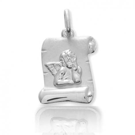 Médaille Ange en forme de parchemin Or Blanc  Marjorie - 9K2916.3G