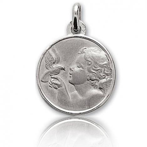 Médaille Ange  Or Blanc 16 mm Agathe - 9K20420G
