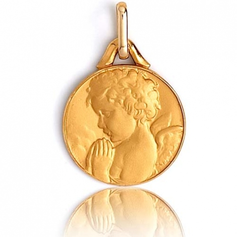 Médaille Ange Or Jaune 12 mm Claudia - XR3319
