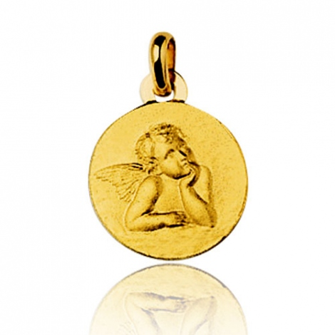 Médaille Ange Or Jaune 14 mm Aurore - 9K38914