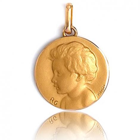 Médaille Ange Or Jaune 14 mm Clara - R1260
