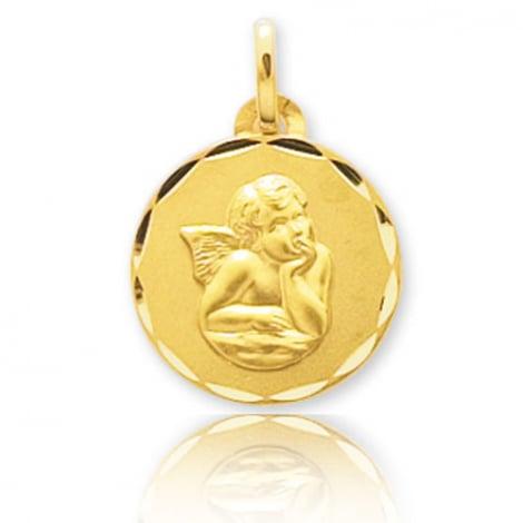 Médaille Ange Or Jaune 15 mm Amélie - 660116