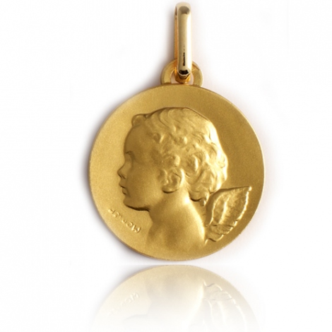 Médaille Ange Or Jaune 15 mm Elena - XR1446