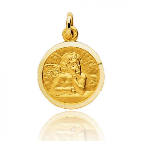 Médaille Ange Or Jaune 15 mm Susanna - 660015