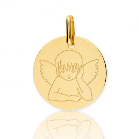 Médaille Ange Or Jaune 15 mm Tufouma - XR1516