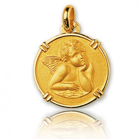 Médaille Ange Or Jaune 16 mm Adriana - 9K38016