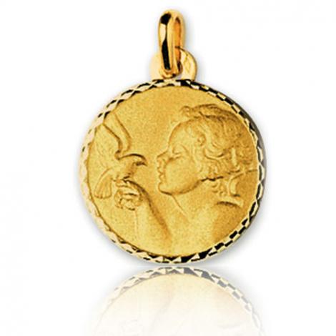 Médaille Ange Or Jaune 16 mm Agata - 23616