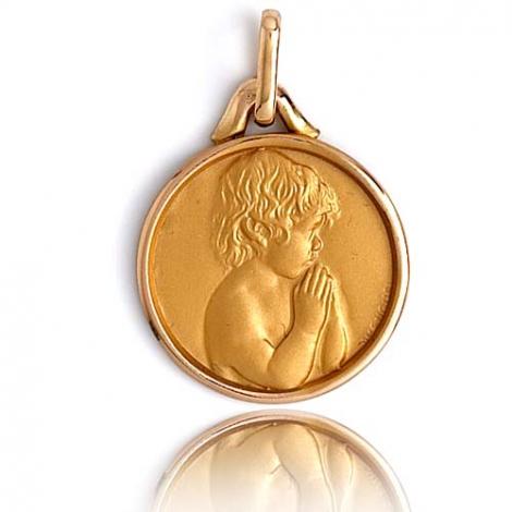 Médaille Ange Or Jaune 16 mm Clarissa - XR3398