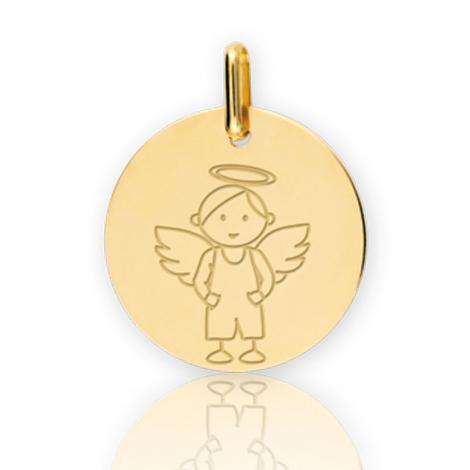 Médaille ange Or Jaune 16 mm Titaina - XM1036
