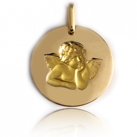 Médaille Ange Or Jaune 17 mm Éliane - XR1400