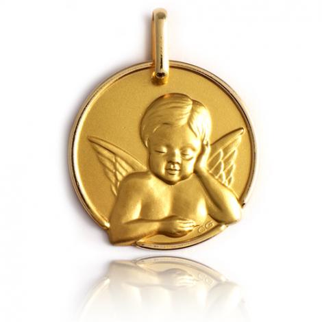 Médaille Ange Or Jaune 17 mm Dalia - XR1445