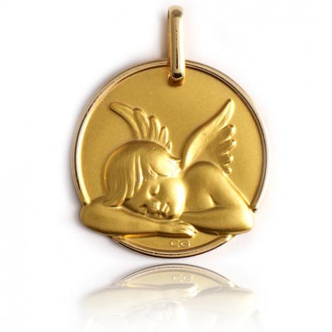 Médaille Ange Or Jaune 17 mm Daphnée - XR1383