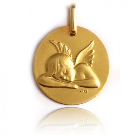 Médaille Ange Or Jaune 17 mm Delphes - XR1450