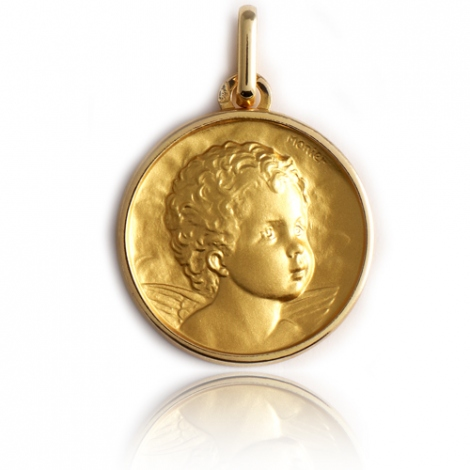 Médaille Ange Or Jaune 17 mm Elena - XR1447